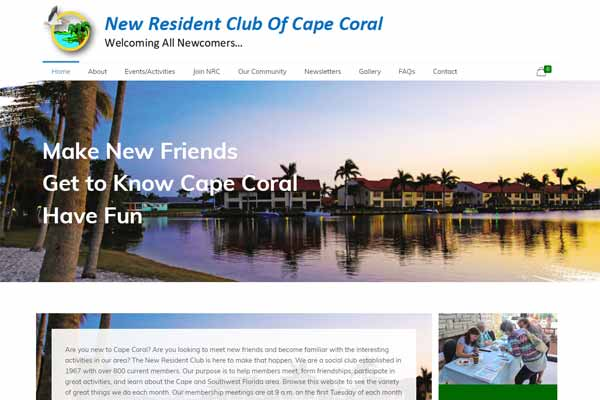 New resident of Cape Coral Landing Page Design