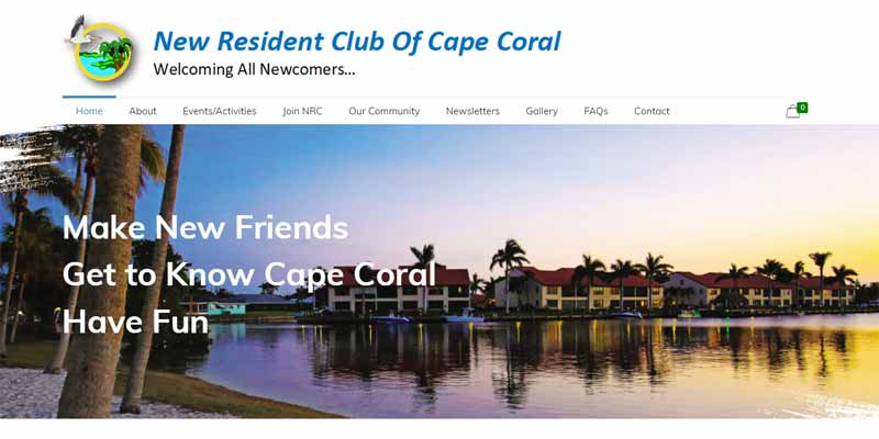 New resident of Cape Coral Landing Page Design 2
