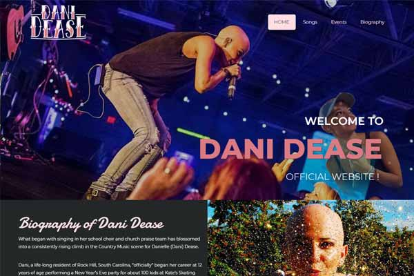 Dani Dease Website design and Developmemnt