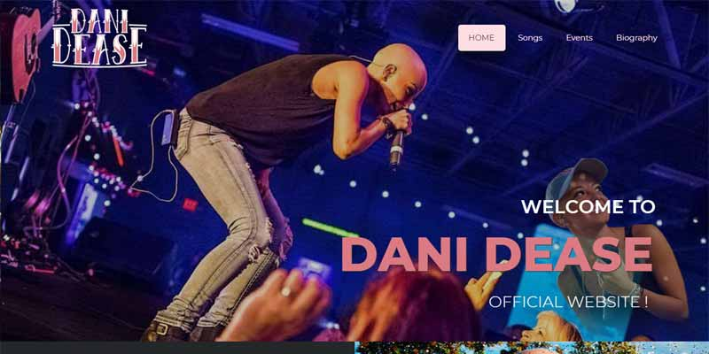 danidease website home page